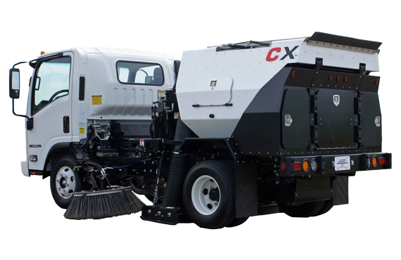 CXi - Cab Over Mounted Parking Lot Sweepers