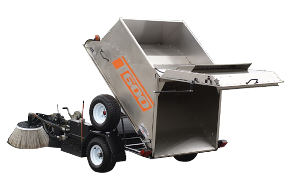 T 600 - Parking area sweeping machine
